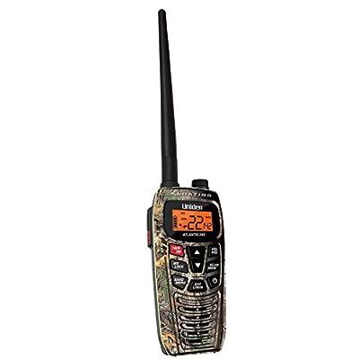 Image of CB Radios & Scanners Uniden Atlantis 295 Handheld Floating 2-Way 6W Dual Band GMRS/VHF Marine Radio - Camouflage