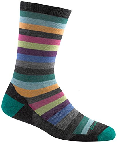Darn Tough Merino Wool Phat Witch Light Cushion Sock - Women's Light Charcoal Medium by Darn Tough