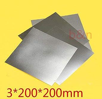 Ochoos New 3mm200200 3mm Thickness Titanium Ti Plate Dynamic