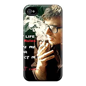 Awesome Hoh2036sObX Wade-cases Defender Tpu Hard Case Cover For Iphone 4/4s- I Hate Love