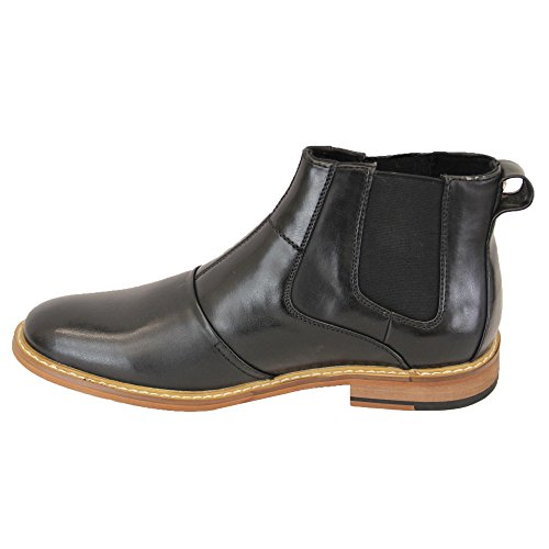 Cavani Allure Hommes Hauteur Noir Chaussures Bottes Designer Cheville Cuir Chelsea Neuf SIMONCAV dfwrqYvxrI