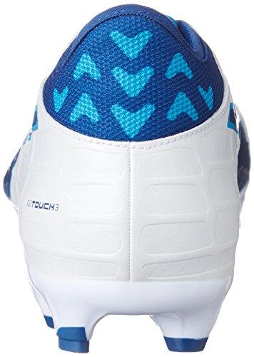 Puma Evotouch 3 Ag, Botas de Fútbol para Hombre Blanco (Puma White-true Blue-blue Danube 02)
