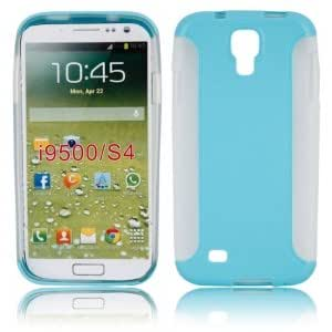 Two Pieces Set TPU + PC Protective Case for Samsung i9500 Blue