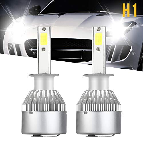H1 LED Headlight Bulbs, LinkStyle 2Pcs 6500K Cool White LED Headlight Fog Light Cree Bulbs 36W 3800LM Conversion Kits