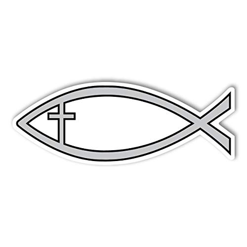 Silver Cross Fish Magnet (Magnet Cross Car)