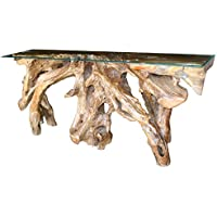 Teak Root Console Table Made By Chic Teak, 70 Inches Long