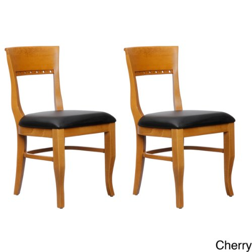 Beechwood Mountain Elegant Biedermier Side Chair for Kitchen and Dining Room in Cherry Finish (Set of 2)