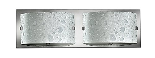 (Hinkley 5922CM-LED2 Contemporary Modern Two Light Bath from Daphne collection in Chrome, Pol. Nckl.finish,)