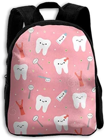 YJMHstore Cute Dental Care Fabric Lightweight Teens School Bookbag Children Durable Outdoor Backpacks
