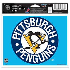 WinCraft NHL Pittsburgh Penguins 68495091 Multi-Use Colored Decal, 5
