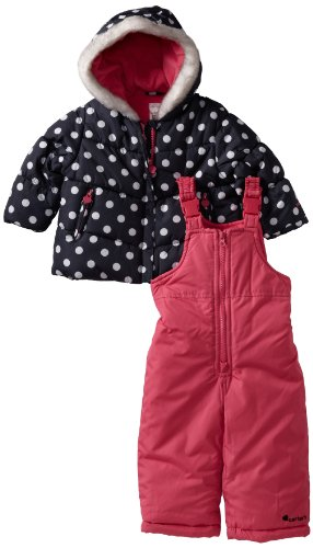 Carter's Baby Girls' Heavyweight Snowsuit, Black, 12 Months