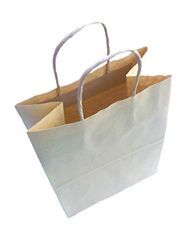 "OfficeMax Kraft Brown Paper Bag with Handles 10"" x 8"" x 4..."