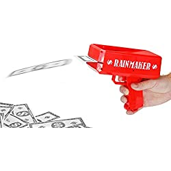 Fairly Odd Novelties Rainmaker Money Gun Make It Rain - Perfect For Bachelor Bachelorette White Elephant Birthday Parties, Red.