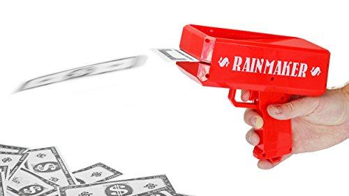 (Fairly Odd Novelties Rainmaker Money Gun Make It Rain - Perfect For Bachelor Bachelorette White Elephant Birthday Parties, Red.)