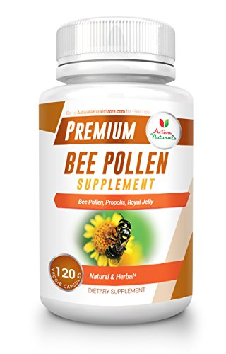 Bee Pollen Blend (Activa Naturals Bee Pollen Supplement with Royal Jelly & Propolis to Support Immune System Health - 120 Veg. Capsules)