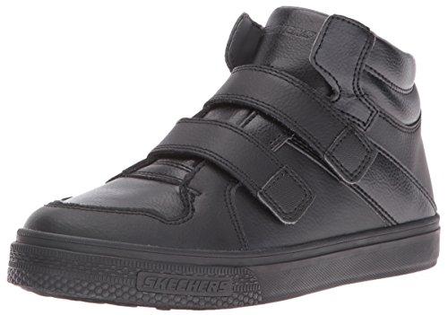 Skechers Kids Boys Brixor-Dapper Kickz Sneaker,Black/Black,13 M US Little Kid