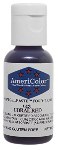 AmeriColor Coral Red .75oz Bottle Food Color