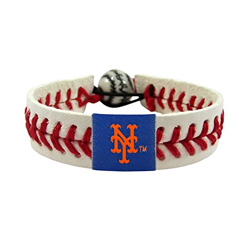 Gamewear MLB Leather Wristband - New York Mets Classic - Bracelet Baseball Leather