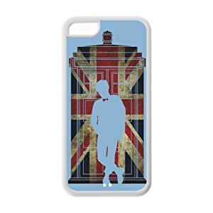 5C Phone Cases, Dr.who Tradis Hard TPU Rubber Cover Case for iPhone 5C