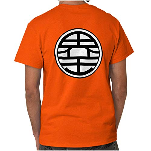 Ball Z Gokus Kanji Uniform Symbol Dragon T Shirt Tee Orange ()