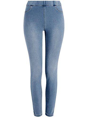 oodji Ultra Mujer Vaqueros Leggings Azul (7000W)