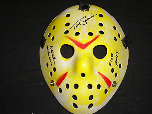 Jason Voorhees Makeup (TOM SAVINI Signed Hockey Mask Friday the 13th Jason Voorhees Part 4)