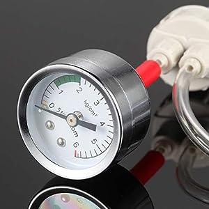 Anself – DIY Kit de sistema de CO2 generador con presión aire medidor flujo ajuste Vavle agua planta acuario accesorio necesidad