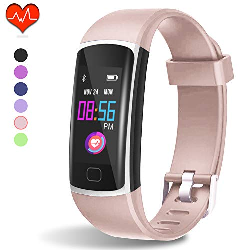 Fitness Tracker, Waterproof Activity Tracker with Heart Rate Monitor and Sleep Monitor,Waterproof Pedometer, Step Counter, Calories Counter for Android iPhone