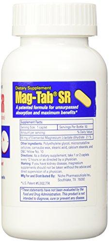 Mag-Tab SR magnesium supplement 84 mg (7 Meq) caplets - 100 Ea