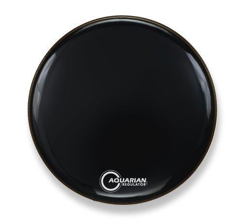 Aquarian Drumheads RF22BK Regulator Black 22-inch Bass Drum Head, gloss black ()
