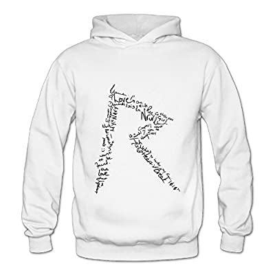 Lennakay Work Adult's Rihanna Pullover Hoodie With No Pocket White For Woman