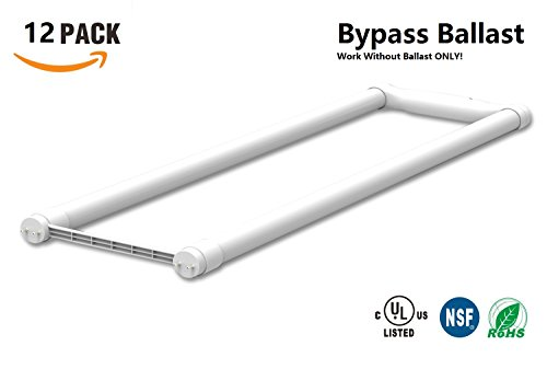 Bypass Ballast U Bent LED Tube Work Without Ballast 15W32W or 40W Equivalent Frosted Glass Siingle End Power UL-Listed DLC-qualified 12 5000KDaylight