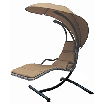 Modern Home Island Breeze Swing Lounge Chair   Beach Sand