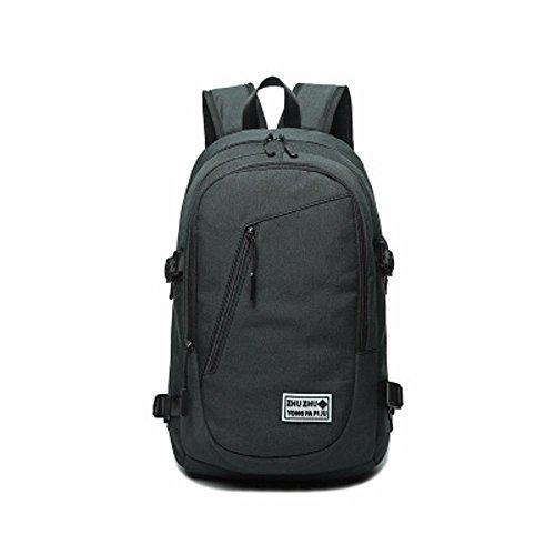 Aoligei Sac à bandoulière double toile épaule sac voyage sac à dos hommes et les femmes générales de sac à dos sac d'ordinateur portable B