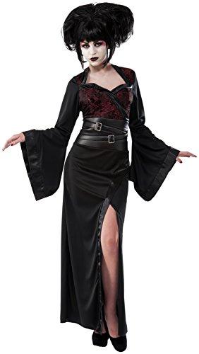 Red Geisha Costumes (Rubie's Costume Co Women's Gothic Geisha Costume, Black/Red, Standard)