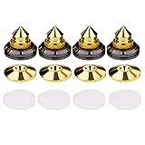 TTAA 4 Set Gold Speaker Spikes Isolation CD