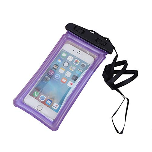 XIAMEND 10 Piece Transparent PVC Mobile Phone Waterproof Bag Swimming Drifting Bubble Mobile Phone Protective Cover Air Bag Inflatable Waterproof Mobile Phone Bag (Color : Purple)