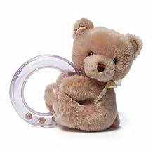 Gund Baby My 1st Teddy Ring Rattle, Tan