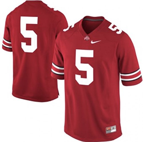 - Ohio State Buckeyes #5 Scarlet Stitched Limited Nike Jersey - Men's Medium