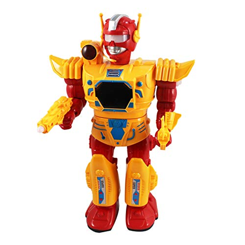 P&F Armor Canon Action Figure Robot with Flashing Lights, Walking & Shooting Sounds - 12