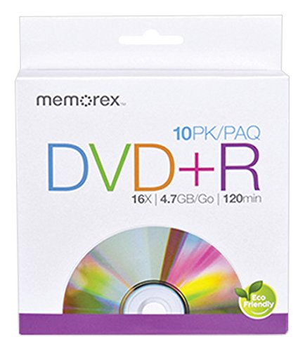 Memorex 4.7GB 16X DVD+R, 10 Pack