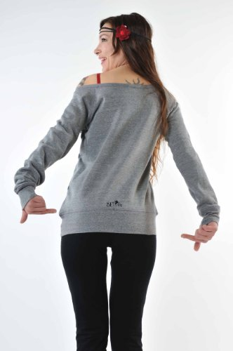 Forest Mujer Grey Mangas The 3elfen Shoulder Black By Off con Sweater largas Elves Fashion Fairy xYzBFnq