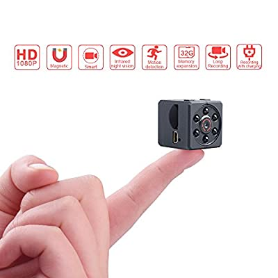JDIBEST Mini Spy Hidden Camera,1080P Portable Mini HD Nanny Cam with Night Vision and Motion Detective,Perfect Indoor Covert Security Camera for Home and Office from jdibest