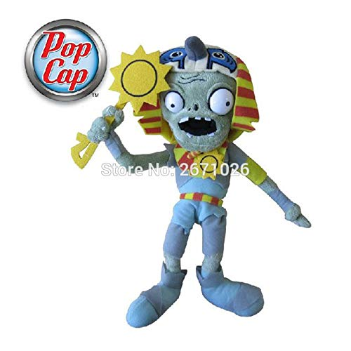 RAFGL 12'' 30Cm Cap Plant Vs Zombie 2 PVZ Sun-God Zombie Character Soft Stuffed Plush Toy Dolls Toddler Must Haves Boy Gifts Girls Favourite Characters Superhero Party Decorations One Collection (Wii Games Plants Vs Zombies)