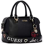 GUESS Womens Satchel Bag, Black - VG744905