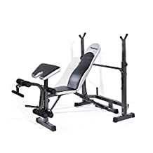TOMSHOO Adjustable Folding Weight Lifting Flat Incline Bench Fitness Body Workout Exercise Equipment