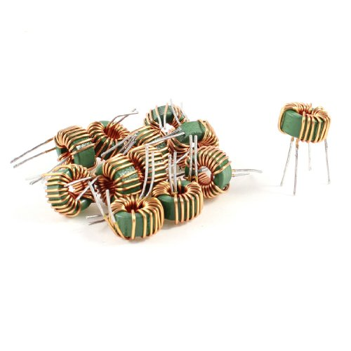 Uxcell a13071500ux0181 10 Piece Toroid Core Co mmon Mode Inductor Choke 800UH-1MH 40mOhm 5 Amp, Coil by uxcell
