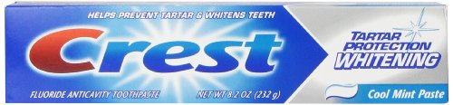 Crest Tartar Protection Whitening Cool Mint Flavor Toothpaste 8.2 Oz (Pack of ()