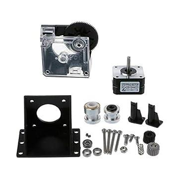 SODIAL - Kit Completo de extrusor de Titanio 3D con Motor Paso a ...