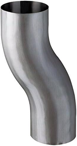 GRÖMO Titan Zink Sockelknie Etagenbiogen Sockelwinkel Bogen ø100//60mm Ausladung